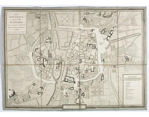 RUDEMARE. -  Plan historique de la ville d'Angers, avec tous ses changements et embellissements.