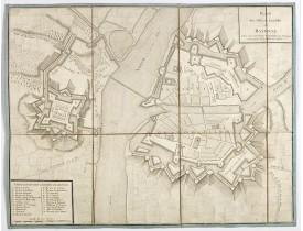 LONGCHAMPS (Sébastien G.). -  Plan des ville et citadelle de Bayonne.