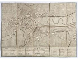 LECLÈRE (P.) -  Plan de la ville de Caen.