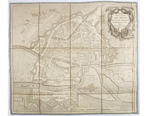 ROTZAMAR. -  Plan de la ville de Metz avec tous les changements faits jusqu'à présent.