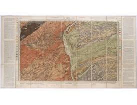Carte géologique de la France. -  St. Etienne. 177.
