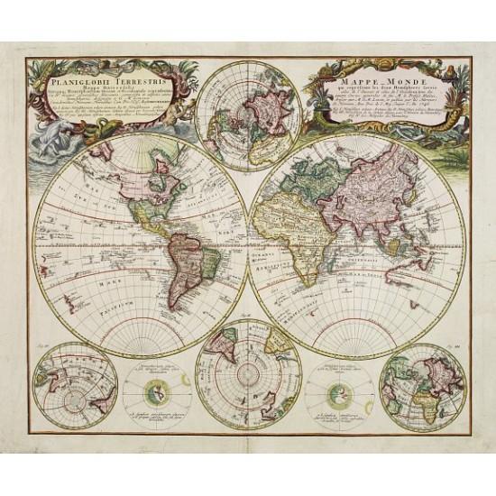 HOMANN, J.B. - Planiglobii Terrestris - Mappe-Monde