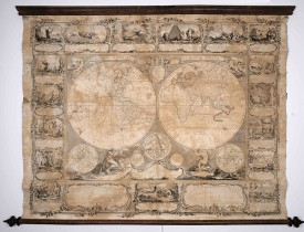 Auction 23 October 2020 Wall map of the world
